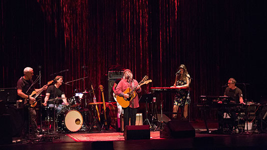 (David Crosby & Friends on stage at The Garde. Photo by Donald Wilson)