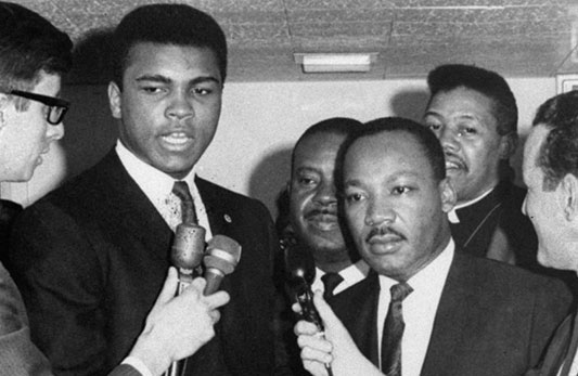 Ali with Martin Luther King